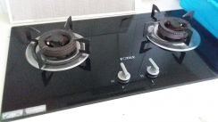 Fortile 2 Station Glass Top Gas Stove TL935