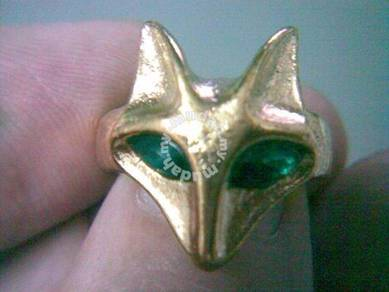 ABRGM-F008 Golden Metal Retro Lovely Cute Fox Ring