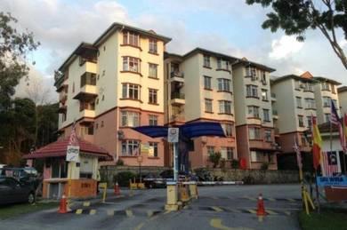 Sri Wira Apartment 850sqft Ukay Perdana Below MV Good Condition