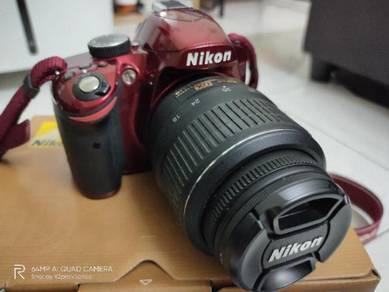 Nikon d3200 (Red edition)
