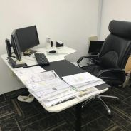 L Shape Office Desk with Chair