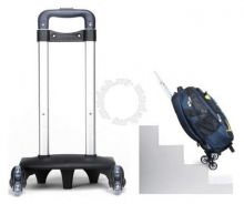 6 Wheels Climb Stairs Backpack School Bag Trolley