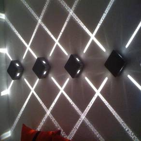 Four point led wall light