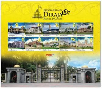 Mint Stamp sheet Royal Palace Malaysia 2011