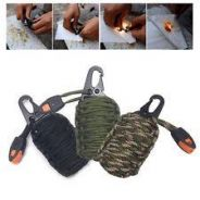 Paracord fish and fire kit