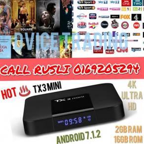 New TX3 Mini 2+16 Android TV BOX IPTV