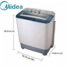 NEW-Midea big tub 8.0kg msw-8008p semi-auto washer