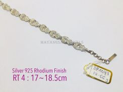 Bracelet genuine silver 925 rhodium finish sr0043