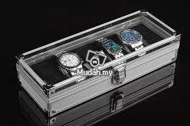 Aluminium watch box 6 slots 04