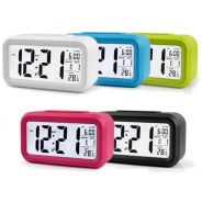 LCD LED Digital Alarm Clock Celender Backlight Tem