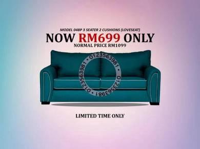 Sofa 3 Seater 2 Cushions Loveseat Model 048P