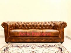 Sofa chesterfield (leather)