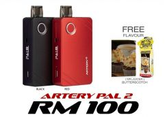 New Artery Pal 2 (Black/Red) - Pod Vape Vapor