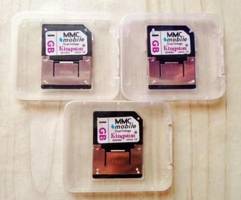 Jenama kingston mmc memory card 1gb