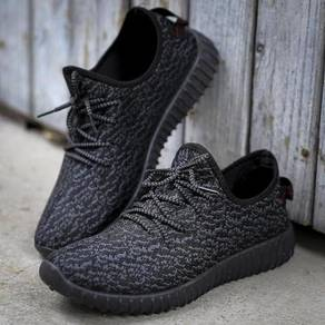 F0251 Breathable Black Sneakers Sports Kasut Shoes
