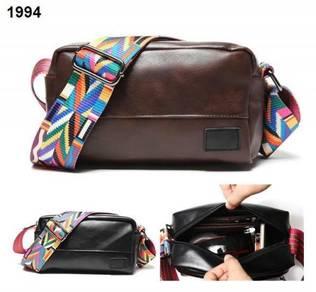 Men Black/Coffee Stylish Colorful Strap Sling Bag