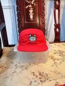 Vtg Cap Kucing Gemuk Merah Made in Usa🇺🇸