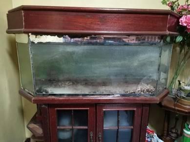 Aquarium with cabinet