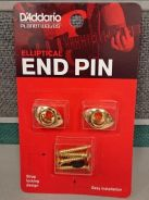 D'Addario PWEEP302, Elliptical End Pins, Gold