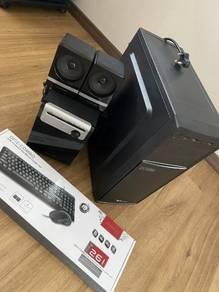Desktop, Speaker and keyboard