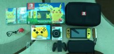 Nintendo Switch Pikachu Edition Complete Set v1