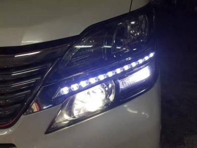 Toyota vellfire head lamp drl led daylight 22