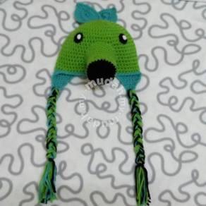 Plants vs Zombies Peashooter Crochet Hat