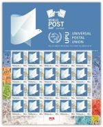 Mint Stamp Sheet World Post Day UPU Malaysia 2015