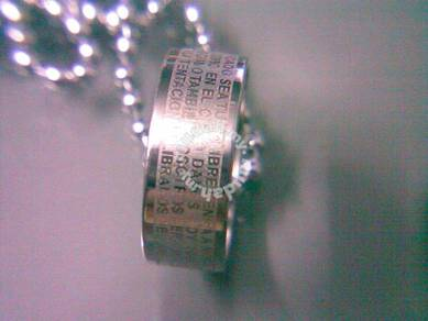 ABPSS-R002 Stainless Cross Bible Ring Necklace