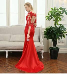 Red prom wedding bridal dinner dress gown RBP0118