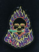Colourful fire skull patch