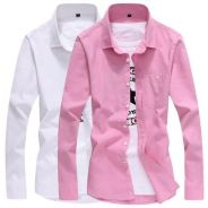 [72] Plain 7 Color Long Sleeve Formal Shirt (Grey)