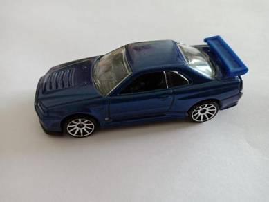 Hotwheels Nissan Skyline R34 2010 Blue loose