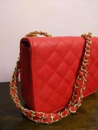 Elegant red handbag,