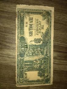 Duit kertas jepun pisang lama 10
