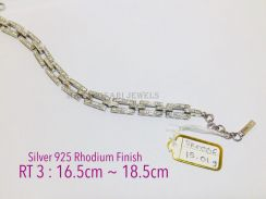 Bracelet genuine silver 925 rhodium finish sr0006