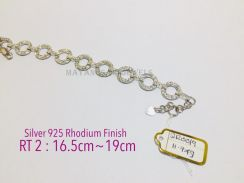 Bracelet genuine silver 925 rhodium finish sr0019