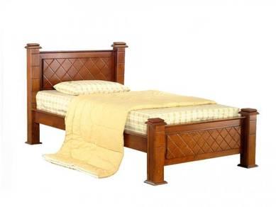 Katil kayu single divan base perabot furniture 417