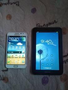 Samsung Note 1 dan Samsung tab 2 7.0