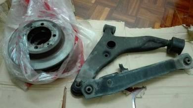 Barang proton waja 4 x lower arm & 4 x disc brake