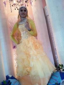 Gown pengantin untuk dijual