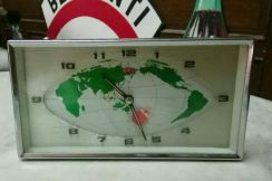 Antik square retro table clock lama