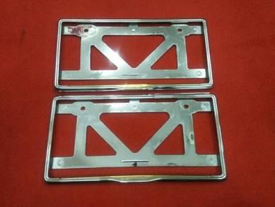 Honda frame plate chrome gold