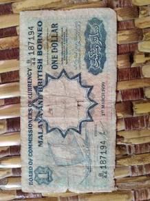 Malay And British Borneo One Dollar 1959