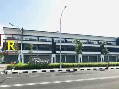3 Storey Shop Office Sunway Wellesley Bukit Mertajam , Spacious area