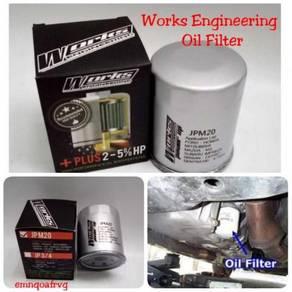 Works Engineering oil filter Triton pajero
