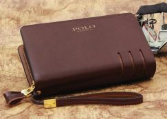Polo Genuine Leather Men's Wallet Clutch Bag