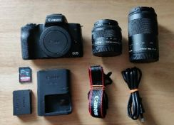 Canon EOS M50 for sale only 5 days old