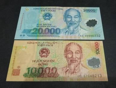 Vietnam 10000, 20000 Dong (2 pcs)