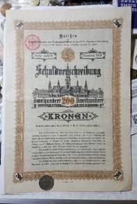 Germany bond coupont 1898